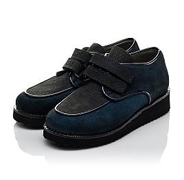 Детские туфли Woopy Orthopedic темно-синие для девочек натуральный замш размер 31-37 (3761) Фото 3