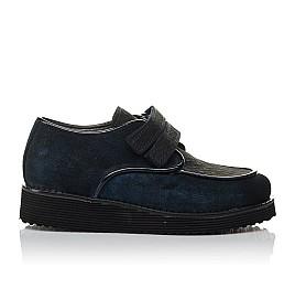 Детские туфли Woopy Orthopedic темно-синие для девочек натуральная замша размер 31-37 (3761) Фото 4