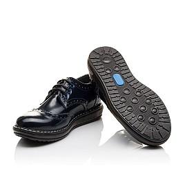 Детские туфли (шнурок-резинка) Woopy Orthopedic синие для девочек матовый лак размер 31-36 (3763) Фото 2