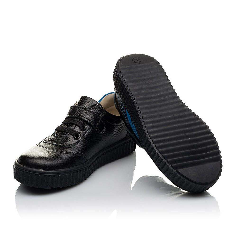 Детские кеды Woopy Orthopedic черные для мальчиков натуральная кожа размер 26-30 (3764) Фото 2