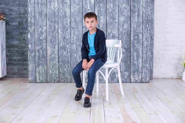 Мальчик обут в детские кеды Woopy Orthopedic черные (3764) Фото 1