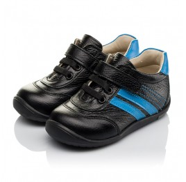 Детские кроссовки Woopy Orthopedic черные для мальчиков натуральная кожа размер 19-25 (3765) Фото 3