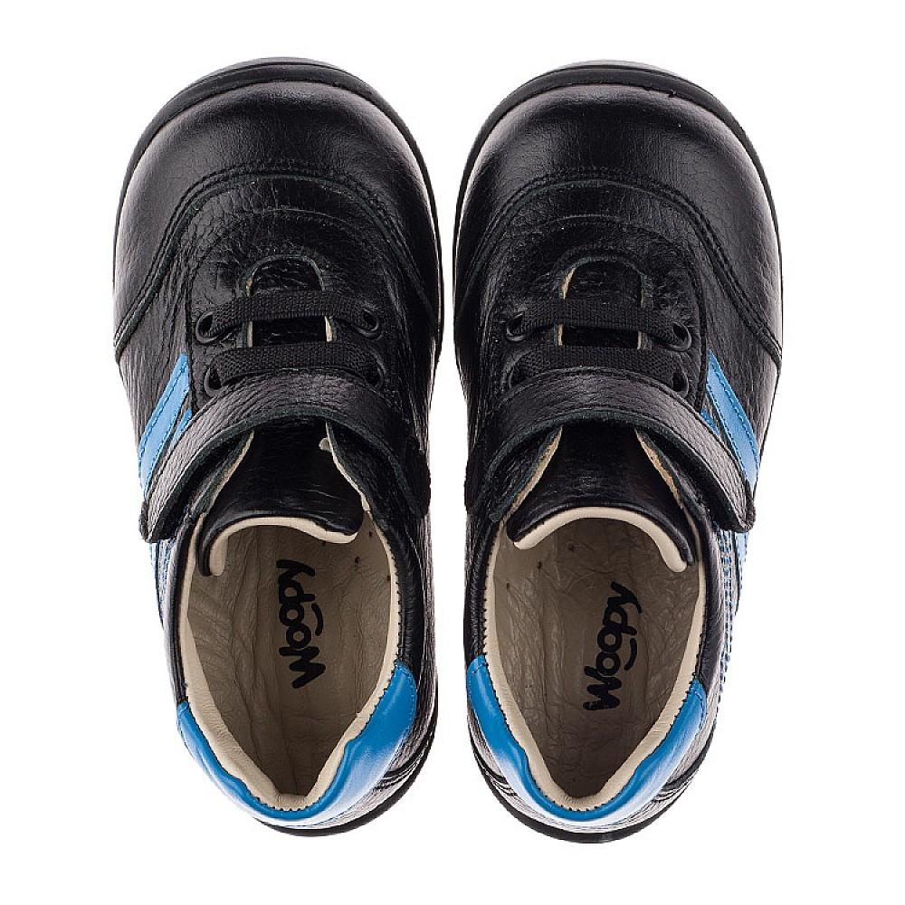 Детские кроссовки Woopy Orthopedic черные для мальчиков натуральная кожа размер 19-25 (3765) Фото 5