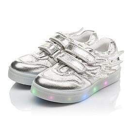 Детские кроссовки Woopy Orthopedic серебряные для девочек натуральная кожа размер 21-29 (3766) Фото 3