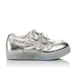 Детские кроссовки Woopy Orthopedic серебряные для девочек натуральная кожа размер 21-29 (3766) Фото 4
