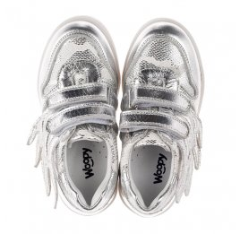 Детские кроссовки Woopy Orthopedic серебряные для девочек натуральная кожа размер 21-29 (3766) Фото 5