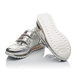 Детские кроссовки Woopy Orthopedic серебряные для девочек натуральная кожа размер 31-35 (3767) Фото 2