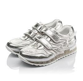 Детские кроссовки Woopy Orthopedic серебряные для девочек натуральная кожа размер 31-36 (3767) Фото 3