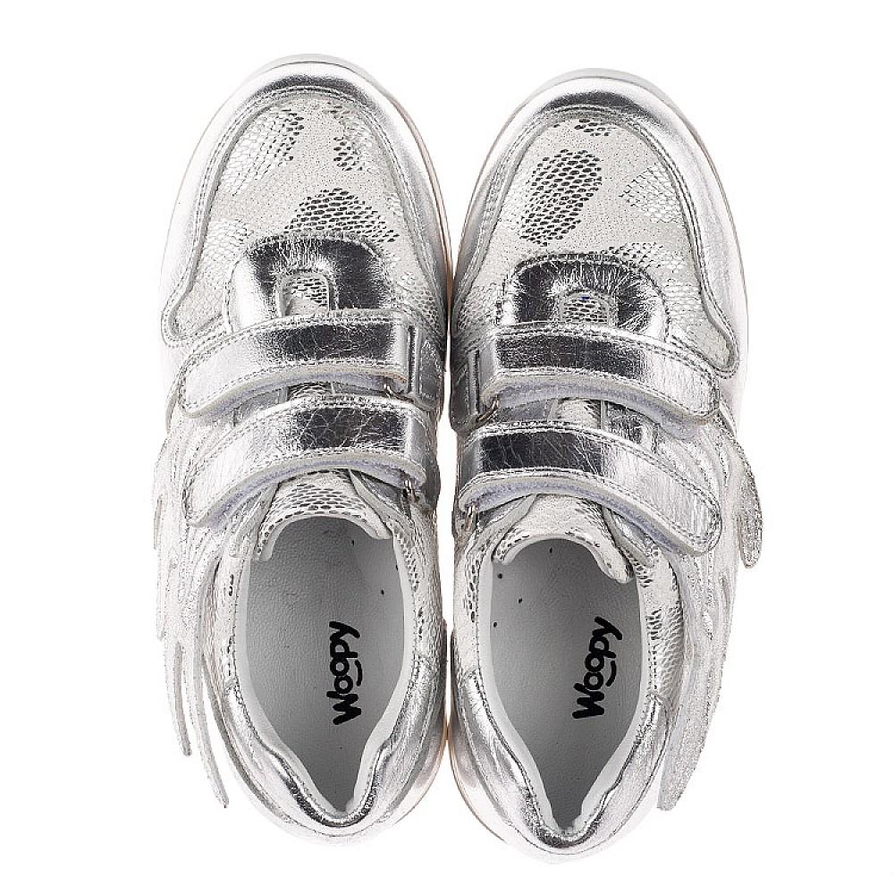 Детские кроссовки Woopy Orthopedic серебряные для девочек натуральная кожа размер 31-36 (3767) Фото 5
