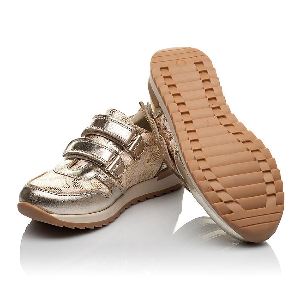 Детские кроссовки Woopy Orthopedic золотой для девочек натуральная кожа, текстиль размер 31-36 (3769) Фото 3