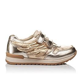 Детские кроссовки Woopy Orthopedic золотой для девочек  натуральная кожа, текстиль размер 33-33 (3769) Фото 4