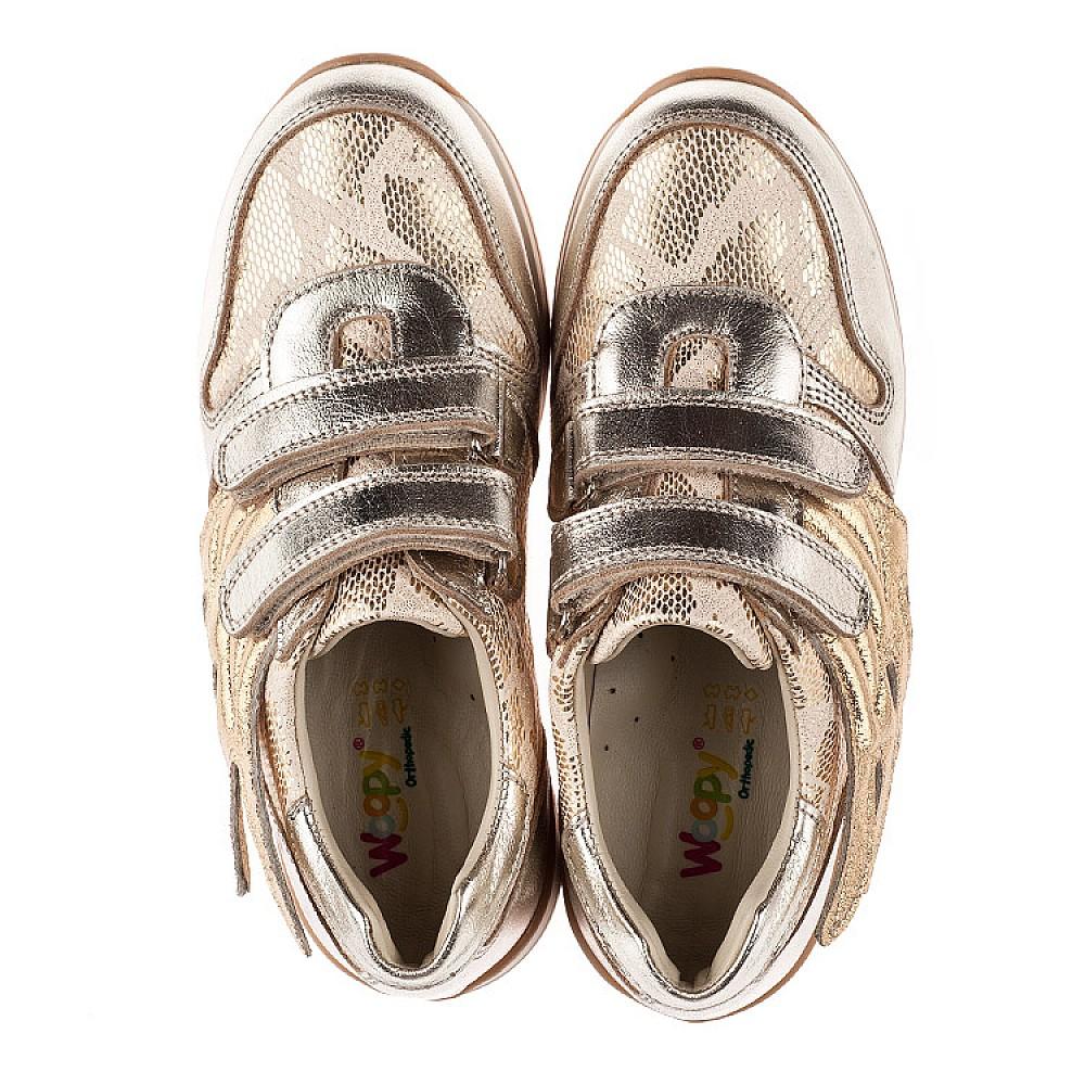 Детские кроссовки Woopy Orthopedic золотой для девочек натуральная кожа, текстиль размер 31-36 (3769) Фото 5