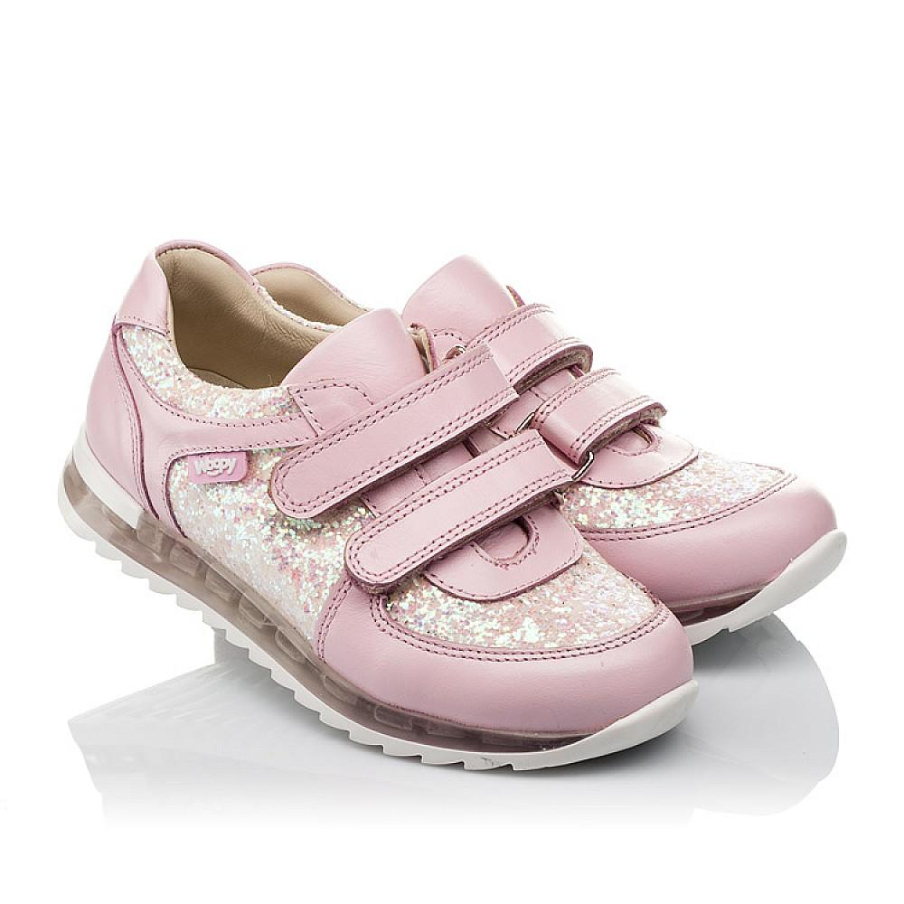 Детские кроссовки Woopy Orthopedic розовые для девочек натуральная кожа, текстиль размер 21-30 (3774) Фото 1