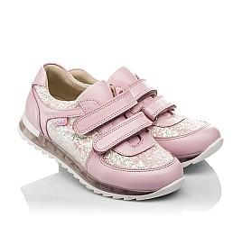 Детские кроссовки Woopy Orthopedic розовые для девочек  натуральная кожа, текстиль размер 21-28 (3774) Фото 1