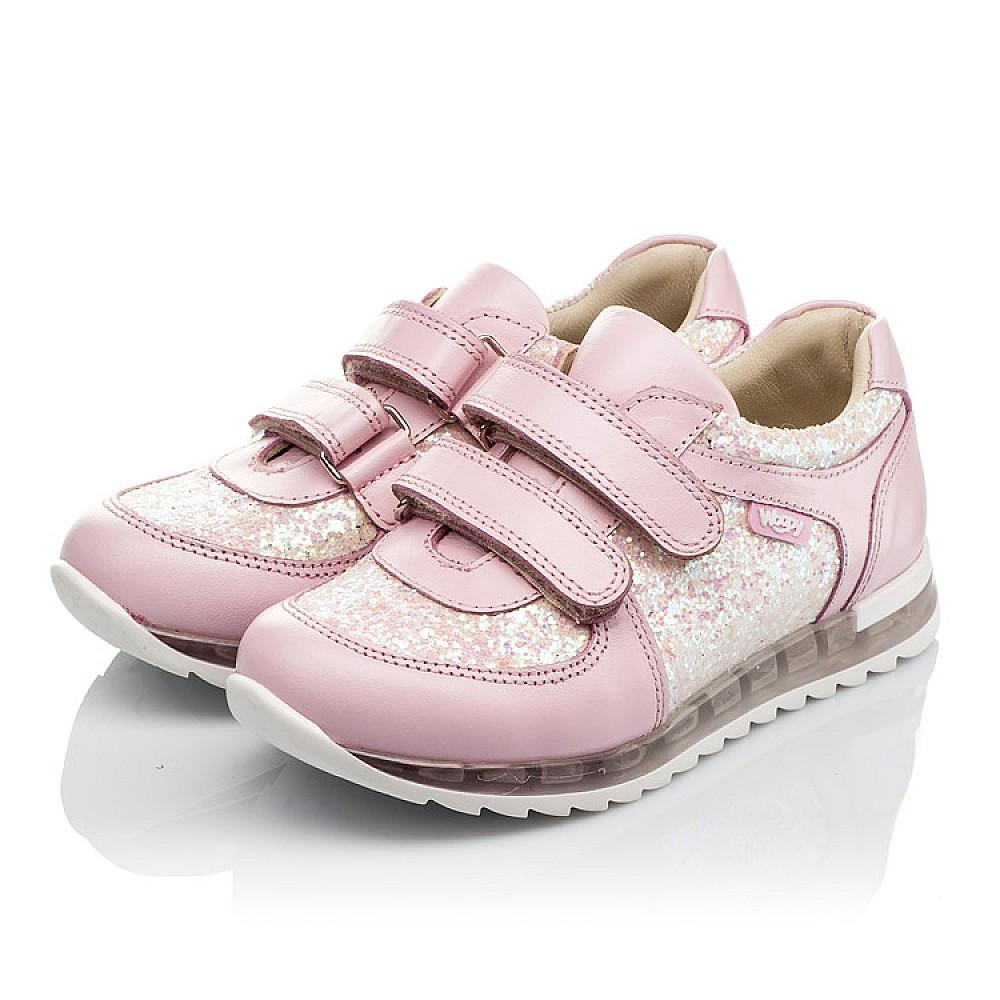 Детские кроссовки Woopy Orthopedic розовые для девочек натуральная кожа, текстиль размер 21-30 (3774) Фото 2