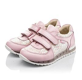 Детские кроссовки Woopy Orthopedic розовые для девочек  натуральная кожа, текстиль размер 21-28 (3774) Фото 2