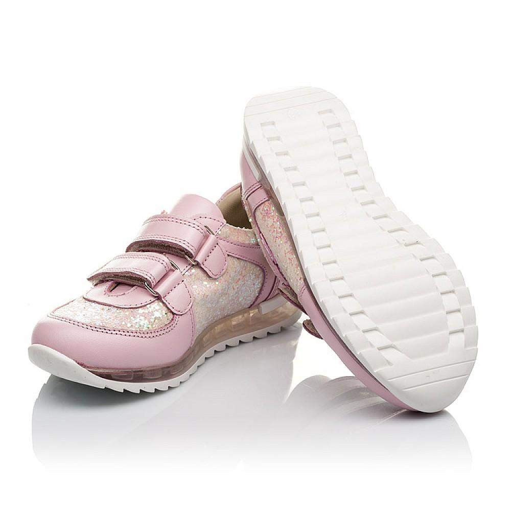 Детские кроссовки Woopy Orthopedic розовые для девочек натуральная кожа, текстиль размер 21-30 (3774) Фото 3