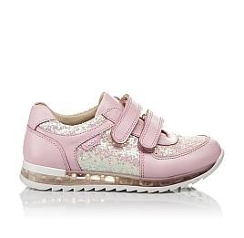 Детские кроссовки Woopy Orthopedic розовые для девочек  натуральная кожа, текстиль размер 21-28 (3774) Фото 4