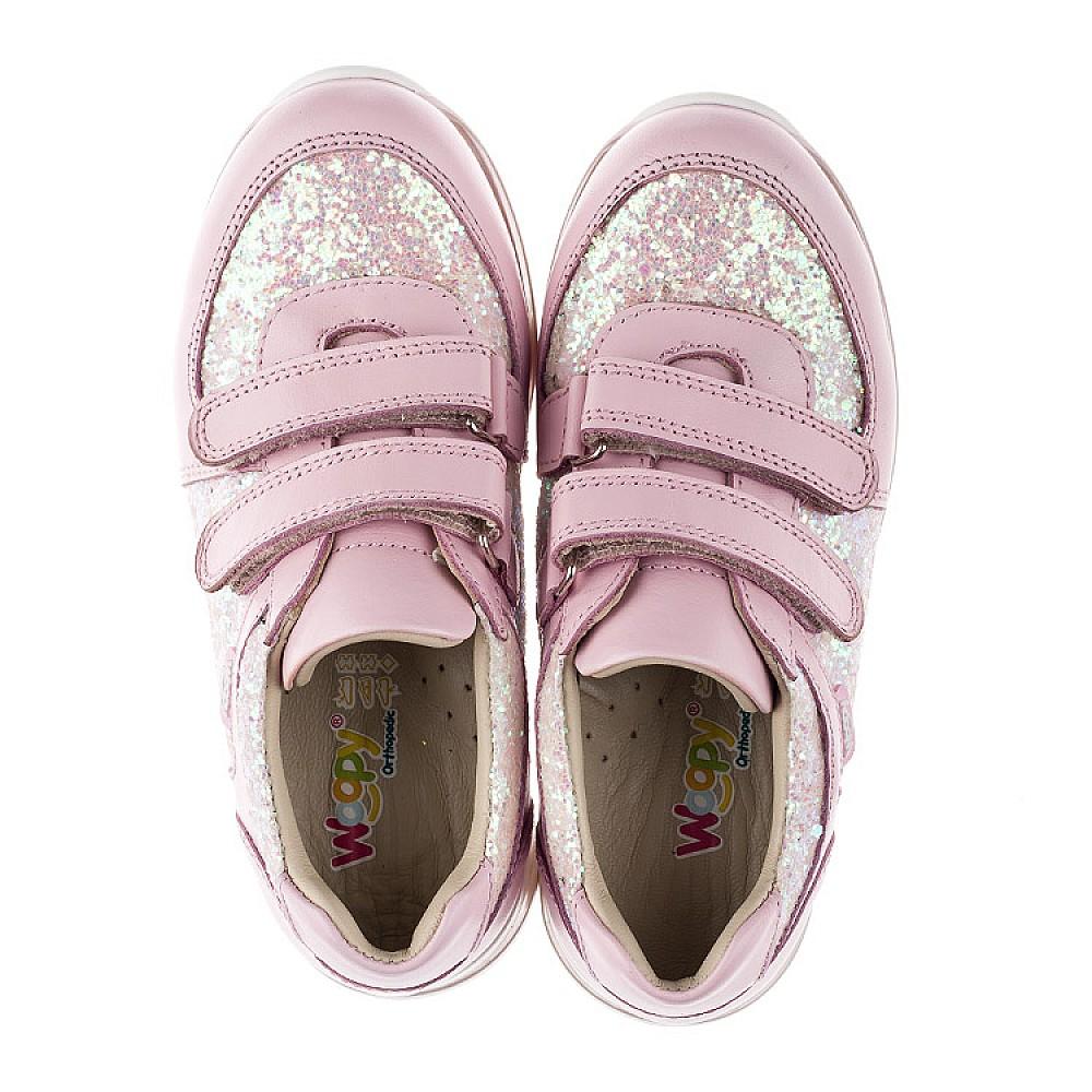 Детские кроссовки Woopy Orthopedic розовые для девочек натуральная кожа, текстиль размер 21-30 (3774) Фото 5