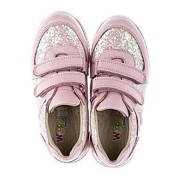 Детские кроссовки Woopy Orthopedic розовые для девочек  натуральная кожа, текстиль размер 21-28 (3774) Фото 5