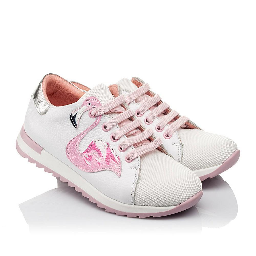 Детские кроссовки Woopy Orthopedic белые для девочек натуральная кожа, текстиль размер 23-36 (3775) Фото 1