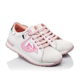Детские кроссовки Woopy Orthopedic белые для девочек  натуральная кожа, текстиль размер 23-26 (3775) Фото 1