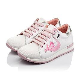 Детские кроссовки Woopy Orthopedic белые для девочек  натуральная кожа, текстиль размер 23-35 (3775) Фото 2