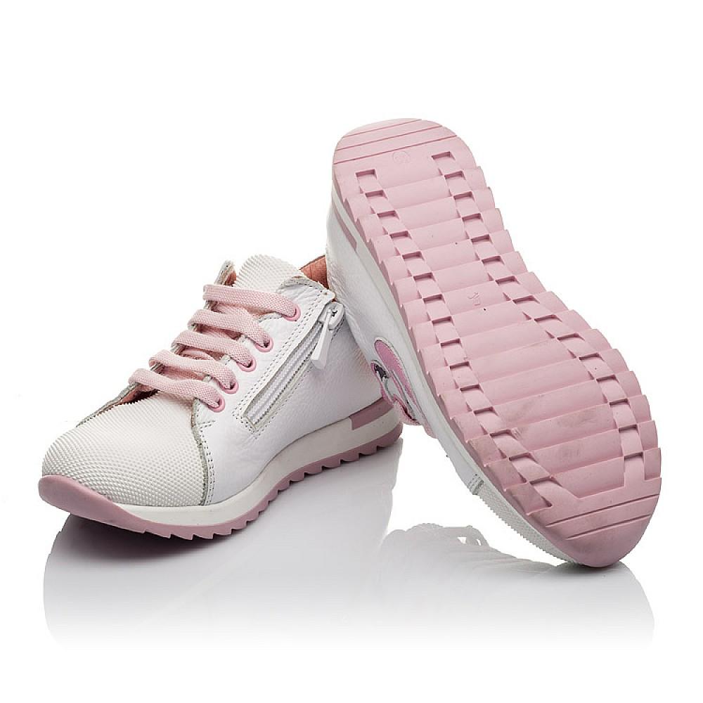 Детские кроссовки Woopy Orthopedic белые для девочек натуральная кожа, текстиль размер 23-36 (3775) Фото 3