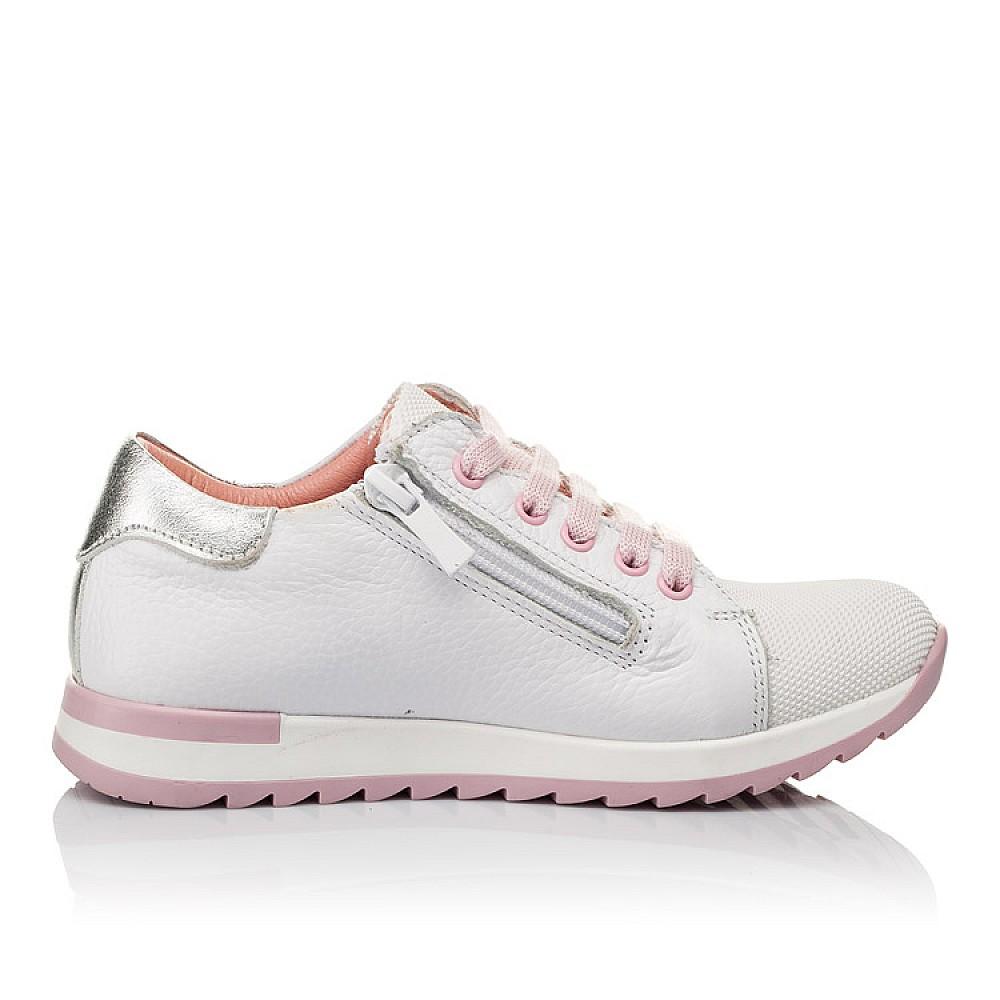 Детские кроссовки Woopy Orthopedic белые для девочек натуральная кожа, текстиль размер 23-36 (3775) Фото 5