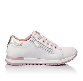Детские кроссовки Woopy Orthopedic белые для девочек  натуральная кожа, текстиль размер 23-35 (3775) Фото 5