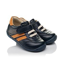 Детские кроссовки Woopy Orthopedic синие для мальчиков натуральная кожа размер 19-23 (3776) Фото 1