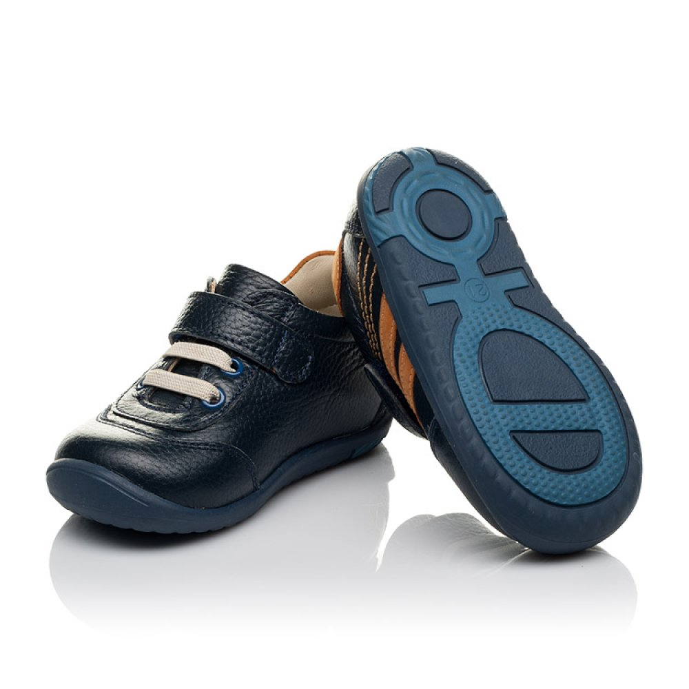 Детские кроссовки Woopy Orthopedic синие для мальчиков натуральная кожа размер 19-25 (3776) Фото 3