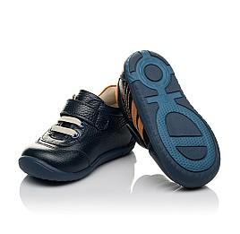 Детские кроссовки Woopy Orthopedic синие для мальчиков натуральная кожа размер 19-23 (3776) Фото 3
