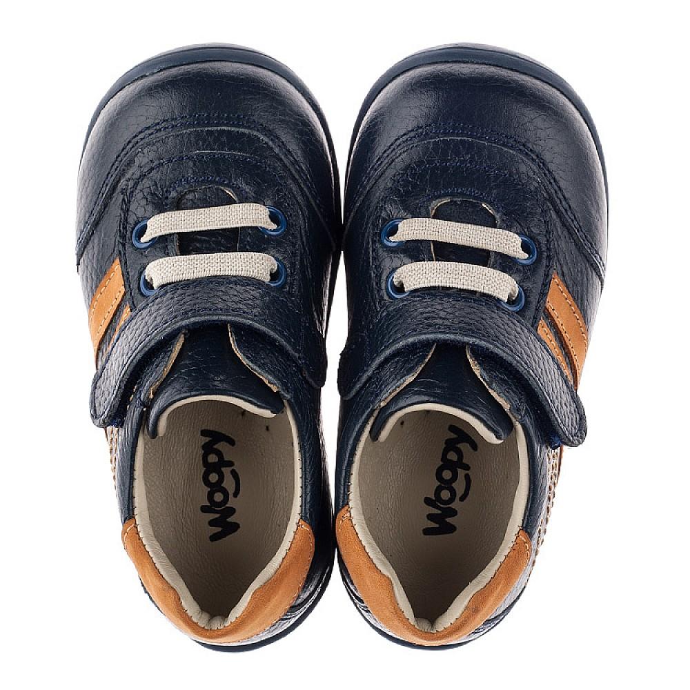 Детские кроссовки Woopy Orthopedic синие для мальчиков натуральная кожа размер 19-25 (3776) Фото 5