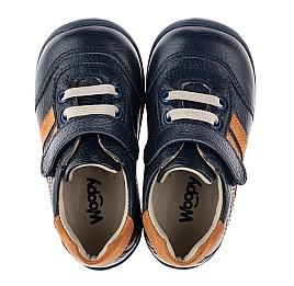 Детские кроссовки Woopy Orthopedic синие для мальчиков натуральная кожа размер 19-23 (3776) Фото 5