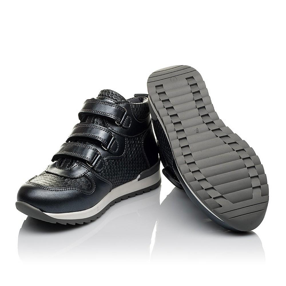 Детские демисезонные ботинки Woopy Orthopedic серые для девочек натуральная кожа размер 28-37 (3777) Фото 3