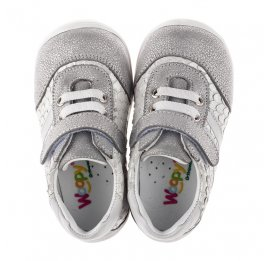 Детские кроссовки Woopy Orthopedic серые для девочек натуральный нубук размер 18-25 (3778) Фото 5