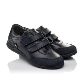 Детские туфли Woopy Orthopedic синие для мальчиков натуральная кожа размер 34-36 (3779) Фото 1