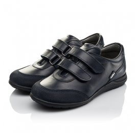 Детские туфли Woopy Orthopedic синие для мальчиков натуральная кожа размер 34-36 (3779) Фото 2