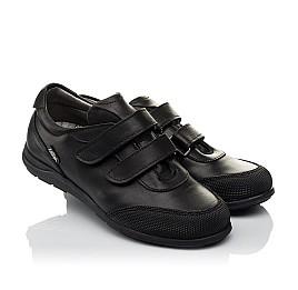 Детские туфли Woopy Orthopedic черные для мальчиков натуральная кожа размер 34-34 (3780) Фото 1
