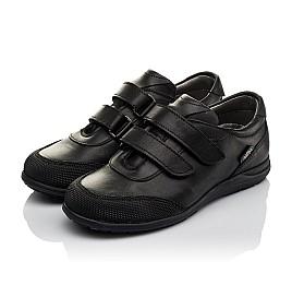 Детские туфли Woopy Orthopedic черные для мальчиков натуральная кожа размер 34-34 (3780) Фото 2