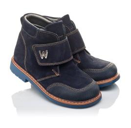 Детские демисезонные ботинки Woopy Orthopedic темно-синие для мальчиков натуральный нубук размер 23-32 (3781) Фото 1