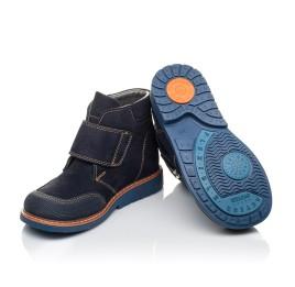 Детские демисезонные ботинки Woopy Orthopedic темно-синие для мальчиков натуральный нубук размер 23-32 (3781) Фото 2