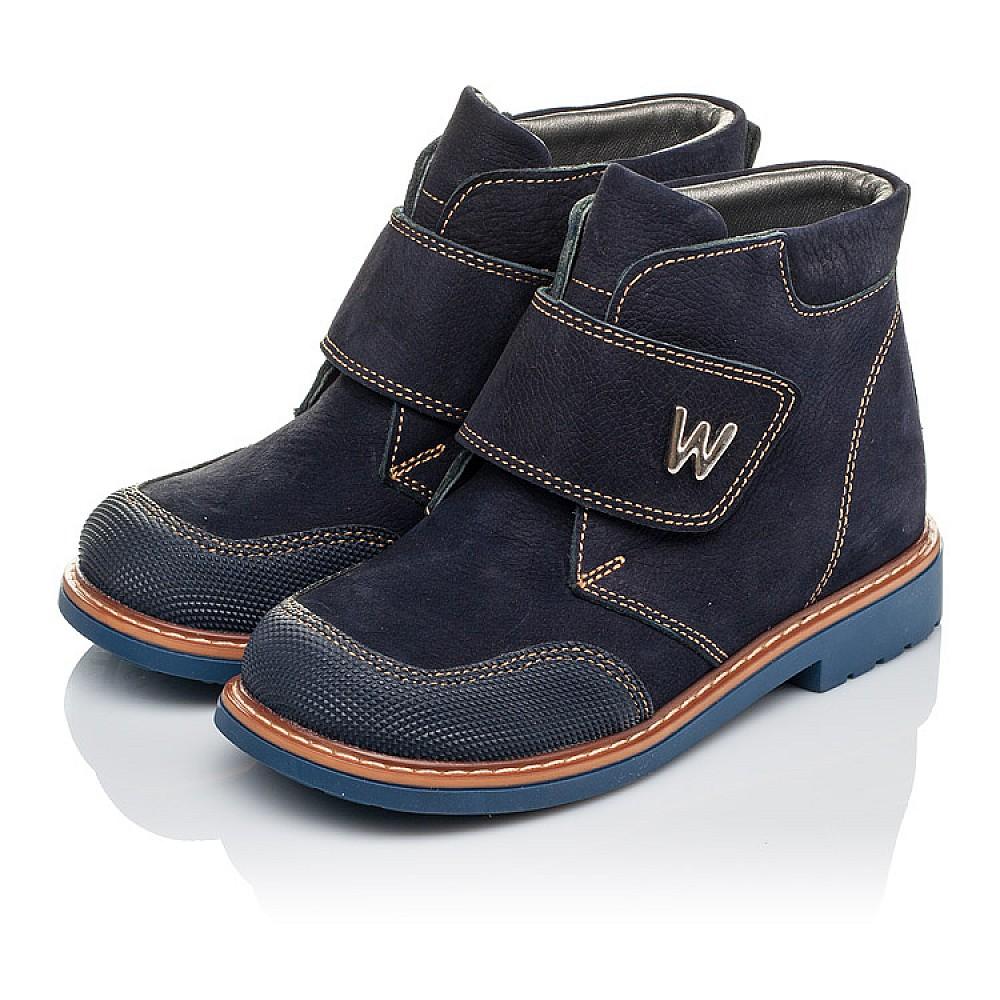 Детские демисезонные ботинки Woopy Orthopedic темно-синие для мальчиков натуральный нубук размер 23-33 (3781) Фото 3