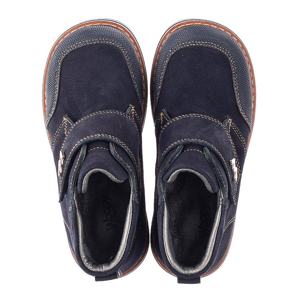 Детские демисезонные ботинки Woopy Orthopedic темно-синие для мальчиков натуральный нубук размер 23-33 (3781) Фото 5