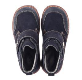 Детские демисезонные ботинки Woopy Orthopedic темно-синие для мальчиков натуральный нубук размер 23-32 (3781) Фото 5