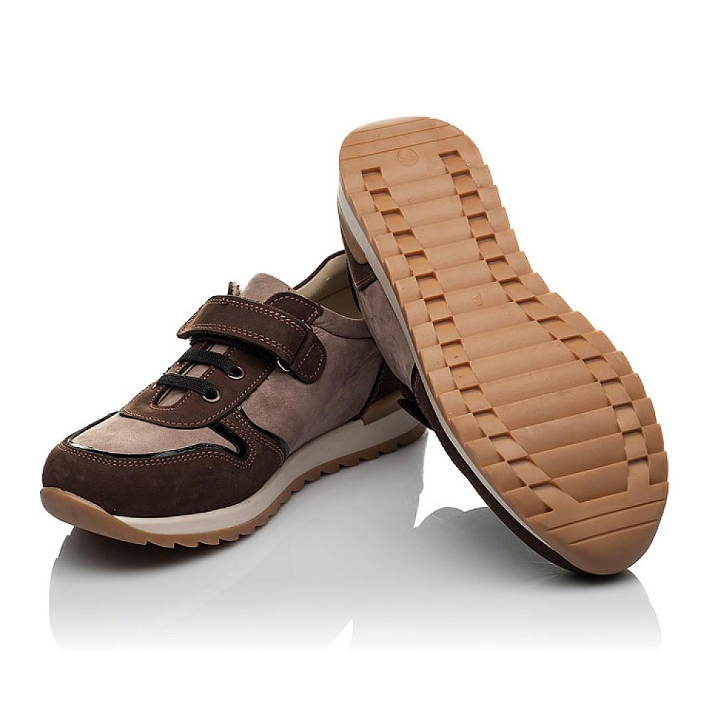 Детские кроссовки Woopy Orthopedic бежевые, коричневые для мальчиков натуральный нубук размер 33-40 (3782) Фото 2