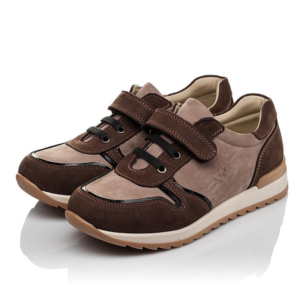 Детские кроссовки Woopy Orthopedic бежевые, коричневые для мальчиков натуральный нубук размер 33-40 (3782) Фото 3
