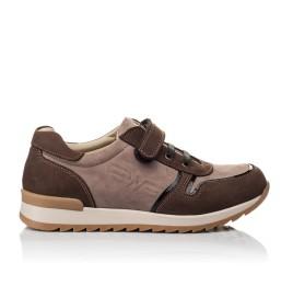 Детские кроссовки Woopy Orthopedic бежевые, коричневые для мальчиков натуральный нубук размер 33-40 (3782) Фото 4