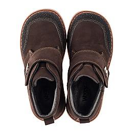 Детские демисезонные ботинки Woopy Orthopedic коричневые для мальчиков натуральный нубук размер 19-21 (3784) Фото 5